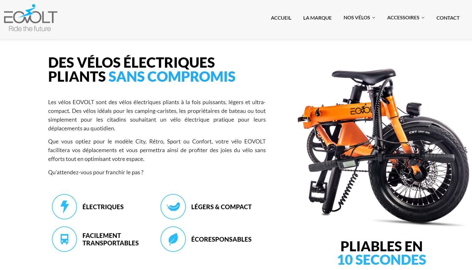 eovolt vélo électrique pliable
